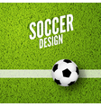 soccer background wit green grass football sport vector image vector image