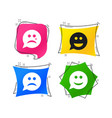 speech bubble smile face icons happy sad cry vector image vector image