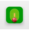 Square icon of cricket sport vector image vector image