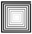 square spiral maze optical vector image