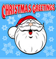 stock christmas greeting card with santa and vector image