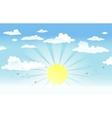 sun in cloudy sky vector image