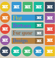 ticket discount icon sign Set of twenty colored vector image vector image