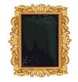 vintage golden ornate florid frame with blank vector image vector image