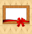 vintage photo frame vector image vector image