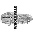 where to borrow money for your wholesale business vector image vector image