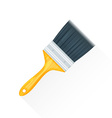 flat paint brush icon vector image