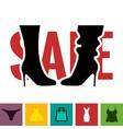 footwear sale icon vector image