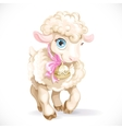 Cute little sheep isolated on a white background vector image