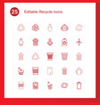 25 recycle icons vector image vector image