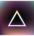 Abstract triangle in space vector image