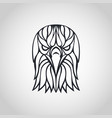 bald eagle logo icon design vector image