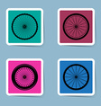 bicycle wheel icon set vector image vector image