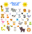 big set animals vector image vector image
