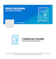 blue business logo template for business data vector image