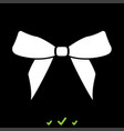 bow it is white icon vector image vector image