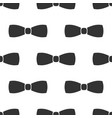 bow tie icon seamless pattern on white background vector image