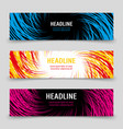business banners template with colorful spirals vector image vector image