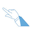 business man finger hand pointing image vector image