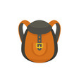 camp backpack icon flat style vector image vector image