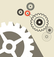 Cogs - Gears Retro Technology Background vector image vector image