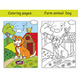 coloring and color for children dog vector image