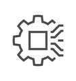 computer chip engineering icon vector image vector image