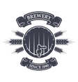 Craft brewing Vintage emblem vector image vector image