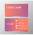 creative design modern of business card vector image vector image