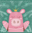 cute winter pig - children vector image