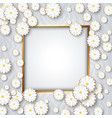 delicate luxury card with daisies place for vector image