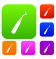 dental probe set color collection vector image vector image