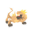 dragon monster mythical and fantastic animal vector image