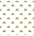 fence with flowers pattern vector image