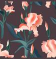 floral pattern seamless iris flower print vector image vector image