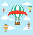 fly sky clouds aerostat air balloon with red vector image