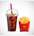 french fries and coca cola vector image