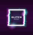 glitch effect for frame vector image vector image