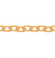 golden chain seamless texture realistic gold vector image vector image