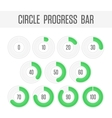 Green circle progress bar vector image vector image