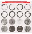 Grunge Circular Textures vector image vector image