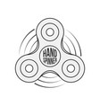 hand spinner badge label or banner template