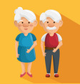 happy grandparents icon vector image vector image