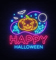 happy halloween party design template vector image vector image