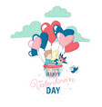 happy valentines day card boy girl couple flying vector image vector image