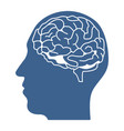 head with brain inside icon design vector image vector image