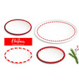 holiday frames on white vector image