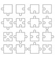 jigsaw pieces puzzle icon vector image