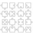 jigsaw pieces puzzle icon vector image vector image
