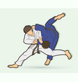 judo sport action cartoon graphic
